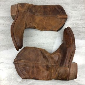 Other - Men's Brown Leather Cowboy Boots